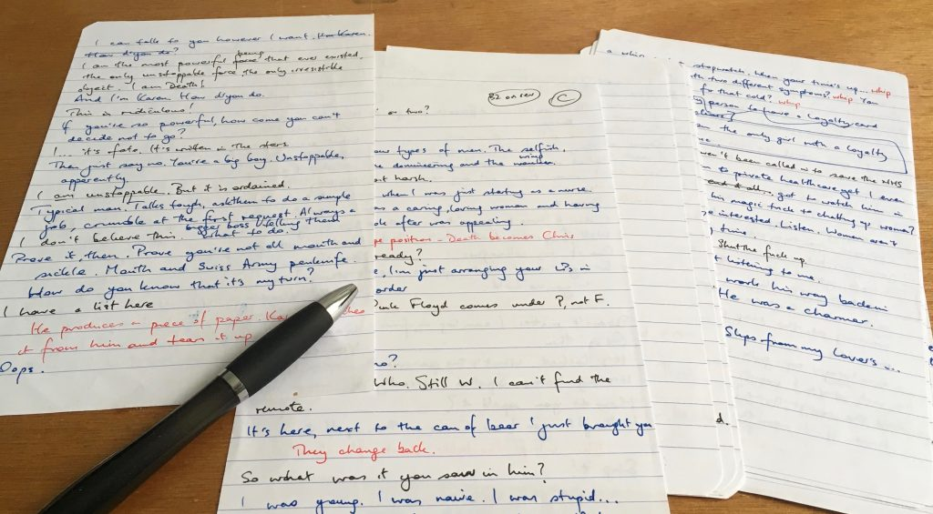 Random hand-written pages